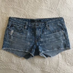 Big Star 1974 Remy Low Rise Distressed Shorts